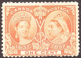 CANADA 1897 QV 1 Cent Orange Jubilee SG122 MH - 1911-1935 Reign Of George V