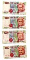 Italie - 4 Billets De 1000 Lires-voir état - [ 2] 1946-… : République
