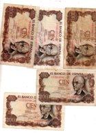 Espagne - 5 Billets De 100 Pesetas De 1970-voir état - [ 3] 1936-1975 : Régence De Franco
