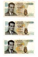 Belgique - 6 Billets De 20 Francs ( 64) Et 50 Francs (66)-voir état - [ 2] 1831-... : Royaume De Belgique