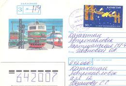 1993. Kazakhstan, Cosmonautics Day, Letter Sent By Registered Post Inside Of. Kazakhstan - Kazakhstan