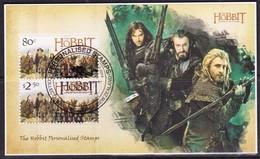 New Zealand 2014 The Hobbit Personalised Stamps Minisheet Used - New Zealand
