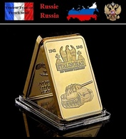 1 Lingot Plaqué OR ( GOLD Plated Bar ) - WW2 Stalingrad Russie Russia CCCP - Coins