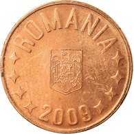 Monnaie, Roumanie, 5 Bani, 2009, Bucharest, TB+, Copper Plated Steel, KM:190 - Romania