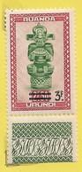 Rwanda Urundi 1949: N°173: Artisanat Et Masques 3F Sur 2.50F Brun-rouge Et Vert - 1948-61: Mint/hinged
