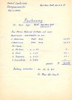 Brief Lettre Rehnung - H.Lauterbach Hainichen -  Karl Marx Stadt - 1981 - Allemagne