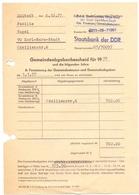 Brief Lettre Rehnung Staatsbank DDR - Familie Vogel - Karl Marx Stadt - 1977 - Allemagne