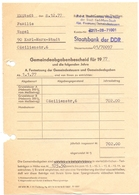 Brief Lettre Rehnung Staatsbank DDR - Familie Vogel - Karl Marx Stadt - 1977 - Non Classés