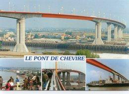 Bouguenais Nantes Le Pont De Cheviré Tablier Belle Multi-vues Animée Bateaux Cargo - Bouguenais