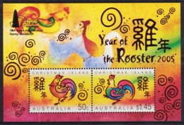 Christmas Island 2005 Year Of The Rooster Minisheet OP TAIPEI 2005 18th Asian MNH - Christmas Island
