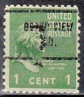 USA Precancel Vorausentwertung Preo, Locals Indiana, Grand View 713 - Vorausentwertungen