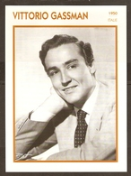 PORTRAIT DE STAR 1950 ITALIE ITALIA ITALY - ACTEUR VITTORIO GASSMAN - ACTOR CINEMA - Photographs