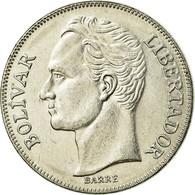 Monnaie, Venezuela, 5 Bolivares, 1990, TTB, Nickel Clad Steel, KM:53a.3 - Venezuela