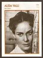 PORTRAIT DE STAR 1954 ITALIE ITALIA ITALY - ACTRICE ALIDA VALLI SENSO - ACTRESS CINEMA - Fotos