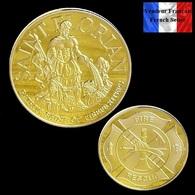 1 Pièce Plaquée OR ( GOLD Plated Coin ) - Saint Florian Pompiers Fire Fighters - Autres Monnaies