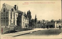 Cp Bruges Brügge Flandern Westflandern, Le Pont De Saint Jean Népomucène Et Le Quai Du Rosaire - Belgique