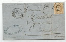 N° 28 GC 2351 MEZIERES 1868 LETTRE + OR VIVIERS ARDENNES - 1849-1876: Classic Period