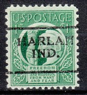USA Precancel Vorausentwertung Preo, Locals Indiana, Harlan 701 - Vorausentwertungen