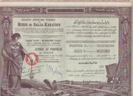 TURQUIE-MINES DE BALIA-KARAIDIN. Sté Ottomane. Capital De 40 MF. DECO - Actions & Titres
