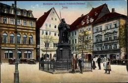 Cp Jena In Thüringen, Marktplatz Mit Johann Friedrich Denkmal - Deutschland