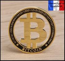1 Pièce Plaquée OR ( GOLD Plated Coin ) - Bitcoin BTC - Monnaies