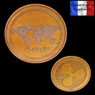 1 Pièce Plaquée CUIVRE ( COPPER Plated Coin ) - Ripple XRP - Coins