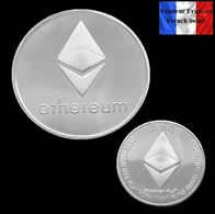 1 Pièce Plaquée ARGENT ( SILVER Plated Coin ) - Ethereum ETH ( Ref 2 ) - Coins