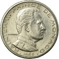 Monnaie, Monaco, Rainier III, 1/2 Franc, 1965, TTB, Nickel, Gadoury:149, KM:145 - Monaco