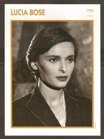 PORTRAIT DE STAR 1955 ITALIE ITALIA ITALY - ACTRICE LUCIA BOSE - ACTRESS CINEMA - Foto