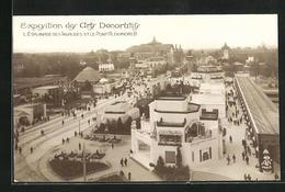 AK Paris, Exposition Des Arts Décoratifs 1925, L` Esplanade Des Invalides Et Le Pont Alexandre III. - Esposizioni