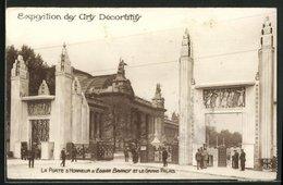 AK Paris, Exposition Des Arts Décoratifs 1925, La Porte D` Honneur D` Edgar Brandt Et Le Grand Palais - Esposizioni