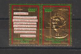 Congo 1971 Timbre Or PA 135-136 G De Gaulle ** MNH - Congo - Brazzaville