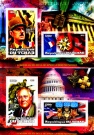 Tchad 2012 Leaders Alliés De La Seconde Guerre Mondiale / Dont De Gaulle - Guerre Mondiale (Seconde)