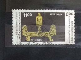 India 1994 Baroda Museum  Centenary Se-tenant Pair Used - India