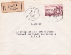 Algérie YT 1193 / LR Cad Hexagonal Type E4 Oran 20/10/59 - Lettres & Documents