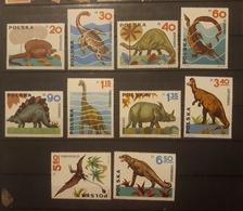 ANIMALS PREHISTORICS POLAND 1964, Set 10 V, Mnh - Sellos