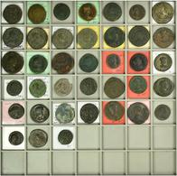 Antike: Lot Von Insgesamt 38 Römischen Münzen, Meist Römische Kaiserzeit, Z.T. Bestimmt, Besichtigun - Antiche