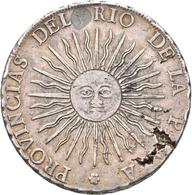 Argentinien: 8 Soles 1815 FL, KM#15, 26,55 G, Kl. Schrötlingsfehler, Sehr Schön. - Argentina