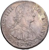 Bolivien: Charlos IV. 1788-1808: 8 Reales 1797, 26,96 G, Sehr Schön. - Bolivia