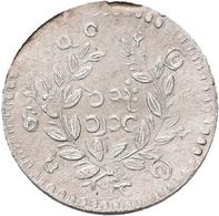 Burma / Myanmar: Lot 4 Münzen, Dabei: 1 Kyat (1 Rupee), KM# 10; 1 Mat, KM# 8 ; 1 Mu, KM# 7 Und 1 Pe, - Myanmar