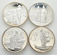 China - Volksrepublik: Lot 4 X 5 Yuan 1987, Serie Chinesische Kultur. Prinzessin Chen Wen Und Song Z - China
