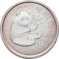 China - Volksrepublik: Lot 19 X 1 OZ Silber Panda Der Jahrgänge 1989-2007. Dabei Auch Der Seltene Ja - China