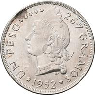 Dominikanische Republik: Lot 2 Stück; 1 Peso 1952 Und 1 Peso 1955, KM# 22, 23, Stempelglanz. - Dominicana