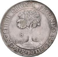 Guatemala: Zentral Amerikanische Republik: 8 Reales 1846, KM# 4, 26,87 G, Sehr Schön. - Guatemala