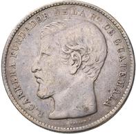 Guatemala: Lot 2 Stück; 1 Peso 1867, KM# 186.1, 24,35 G, Sehr Schön Und 1 Peso 1894, KM# 210, 24,86 - Guatemala