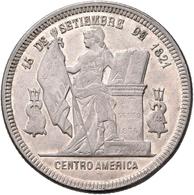 Honduras: Silber Peso 1890, KM# 52, 24,92 G, Winz. Kratzer, Fast Vorzüglich. - Honduras