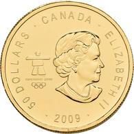 Kanada - Anlagegold: Elizabeth II. 1952-,: 50 Dollars 2009, Olympische Winterspiele Vancouver 2010 - - Canada
