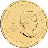 Kanada - Anlagegold: Elizabeth II. 1952-,: 50 Dollars 2010, Olympische Winterspiele 2010 Vancouver - - Canada