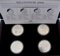 Kiribati: Kiribati/Samoa: Silbermünzenset Millennium 2000, 4 X 2-teilige Münzen 1997-2000 Zu Je 5 Do - Kiribati