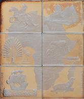 Kongo, Republik (Brazzaville): Set 6 X 1.000 Francs 1997, Komplettes Mosaik Aus 6 X 1 Unze Silber In - Congo (Democratic Republic 1964-70)